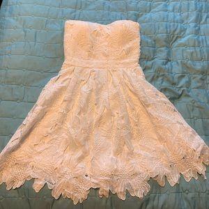White lace sundress juniors small